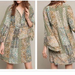 [Anthro] Floreat Silk Kimono Dress